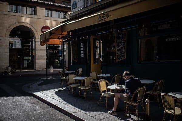 Parisians Savor More Than the Coffee as Cafes Reopen