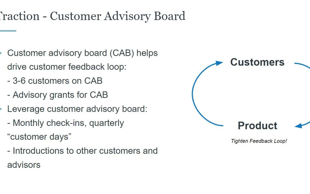 Building your startup's customer advisory board