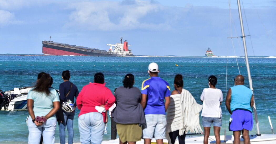 Mauritius Faces Environmental Crisis as Oil Spills From Grounded Ship