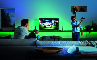 The Philips Hue Play HDMI Sync Box makes any home theater a bit more theatrical