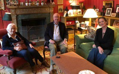 Belgium's Princess Delphine Meets With Her Father, King Albert II