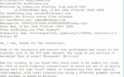 Previously Unpublished Emails of Satoshi Nakamoto Present a New Puzzle