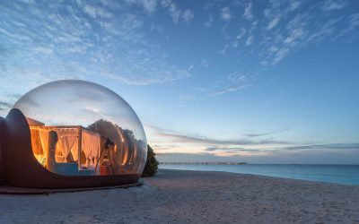Tree pods and beach bedrooms: Social distancing in the Maldives