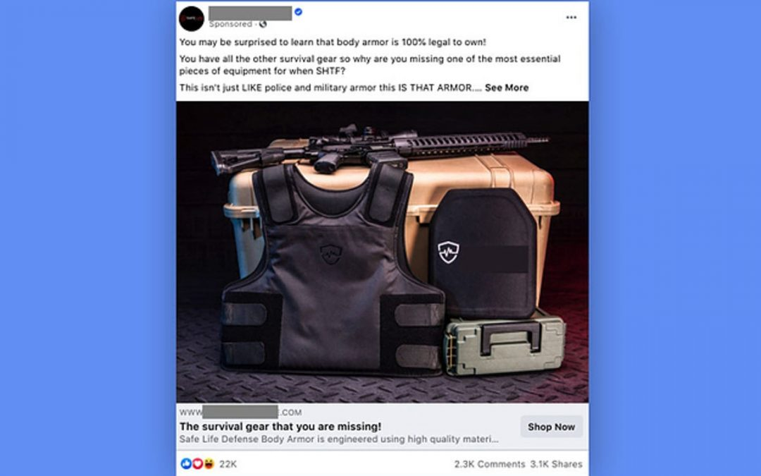 Facebook Has Been Showing Military Gear Ads Next To Insurrection Posts