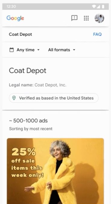 Google ads to get more transparent by offering access to advertiser's recent history